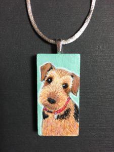 custom pet portrait teddy pendant WP SMART SLIDER melissa