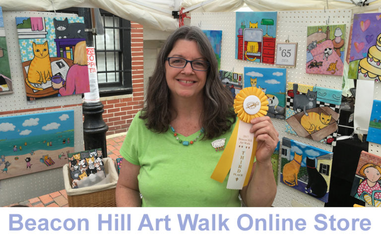 Photo of Jen Niles at BHAW 2017 with third place medal - links to online store